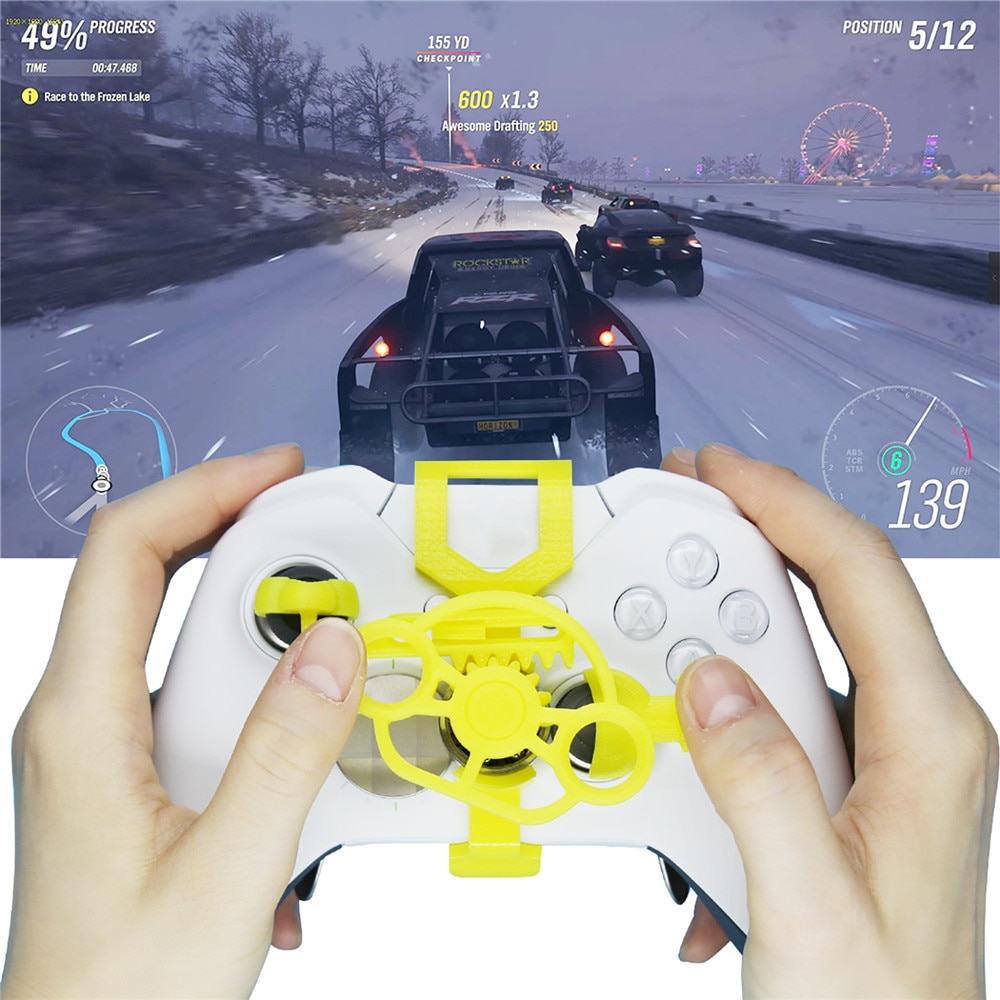 €7.86 24% De Réduction|Nouveau Mini Volant Pour Xbox One/one S Contrôleur  De Jeu De Course De Voiture Remplacement Contrôleur De Volant Accessoires serapportantà Mini Jeux De Voiture