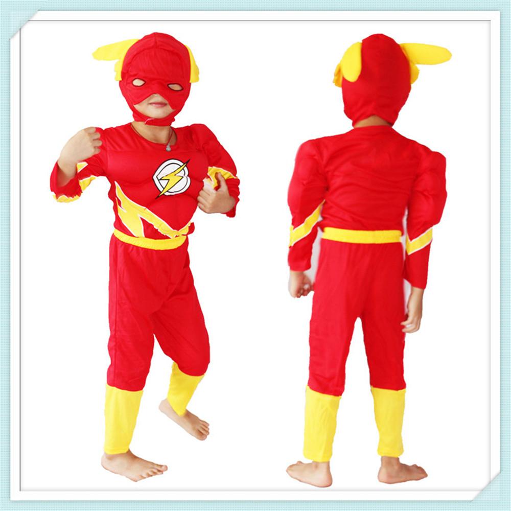 €9.8 |3 8 Ans Garçon Jeu De Rôle Flash Cosplay, Halloween Costumes Enfant  Flash Barry Allen Modèle Vêtements Livraison Gratuite C244|Flash Cosplay - destiné Jeux Flash Enfant