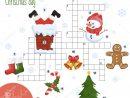 Easy Crossword Puzzle Christmas Day Children Elementary tout Rebus Noel