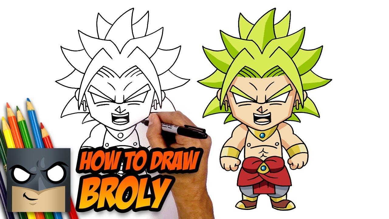 Easy Dragon Ball Z Drawings Broly dedans Dessin Animé De Dragon Ball Z