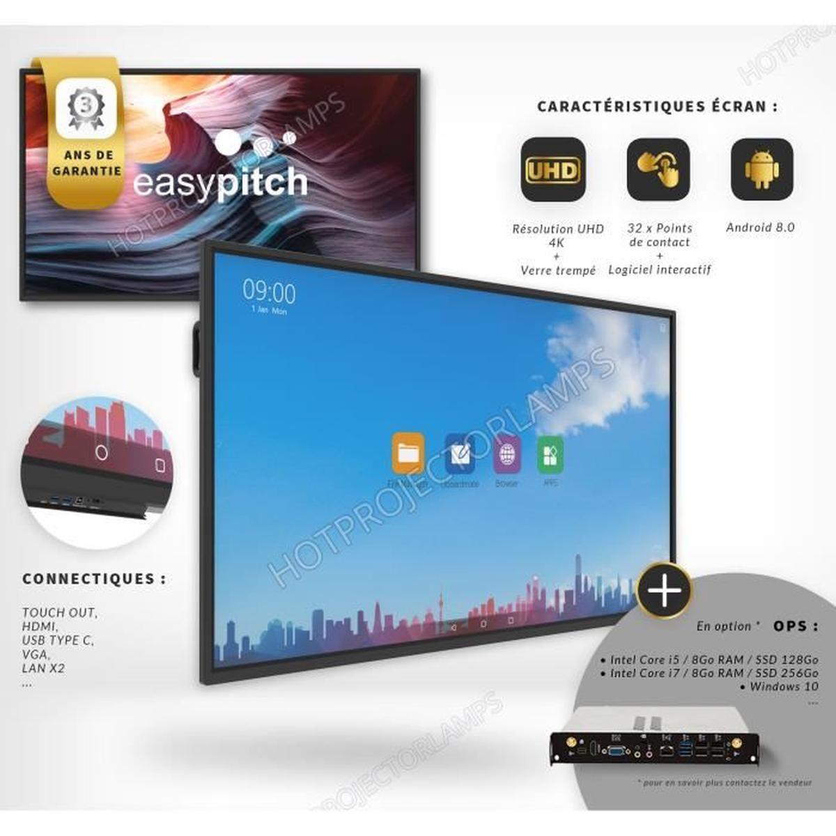 Easypitch Advance- Ecran Interactif 65 Pouces 4K Uhd destiné Ordinateur 3 Ans