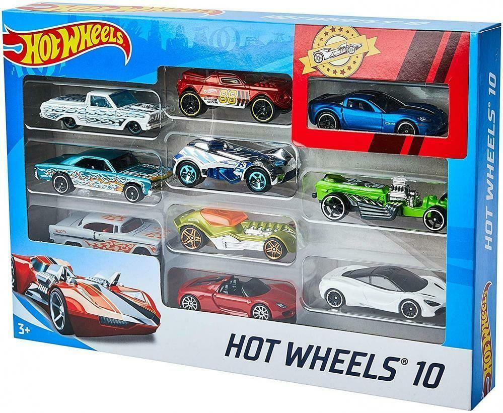 Ebay #sponsored Hot Wheels Coffret 10 Vehicules Jouet Pour destiné Jeux De Petite Voiture