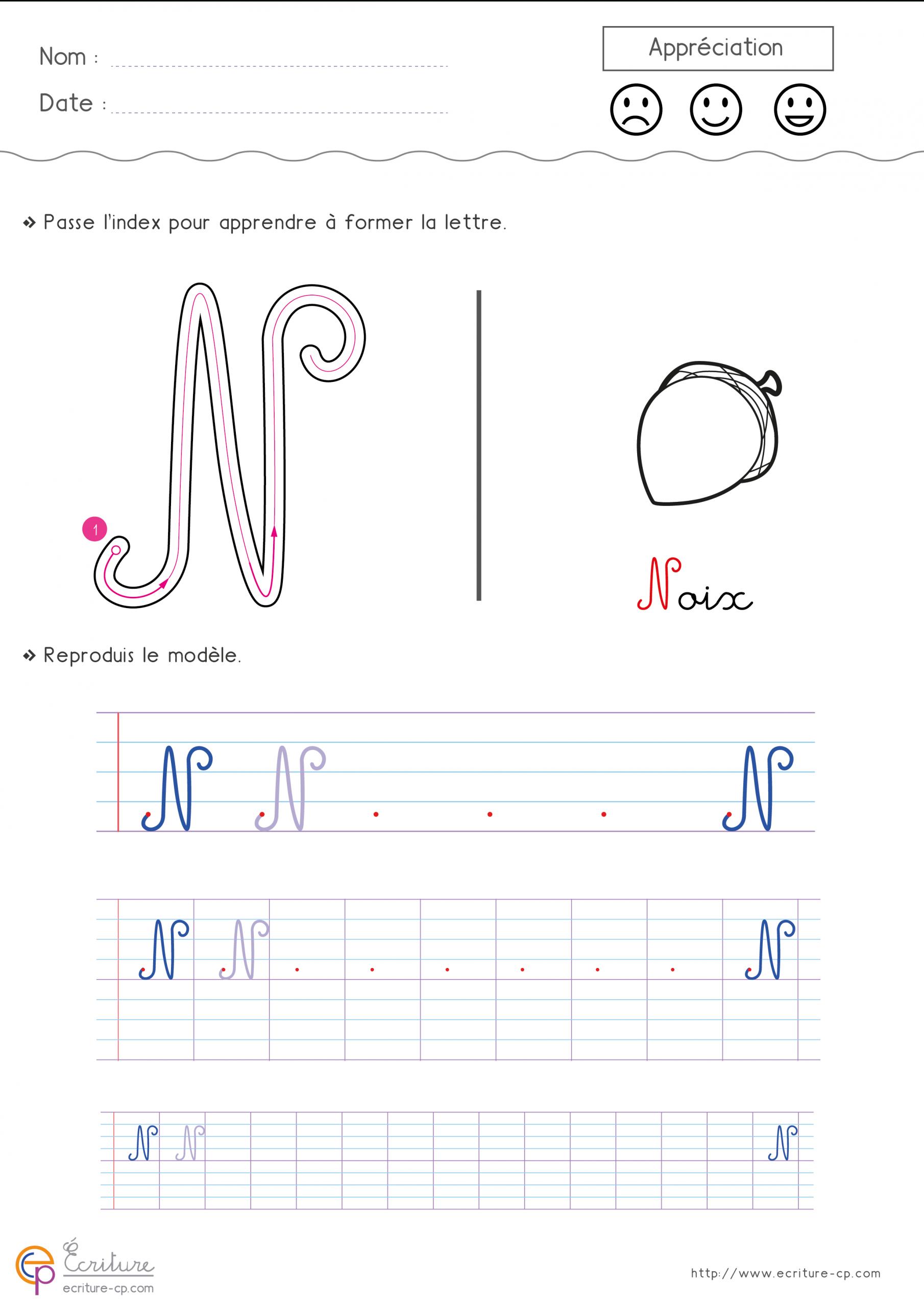 Écrire L'alphabet Majuscule Cursive Cp Ce1   Fiche D destiné Lettres Majuscules À Imprimer