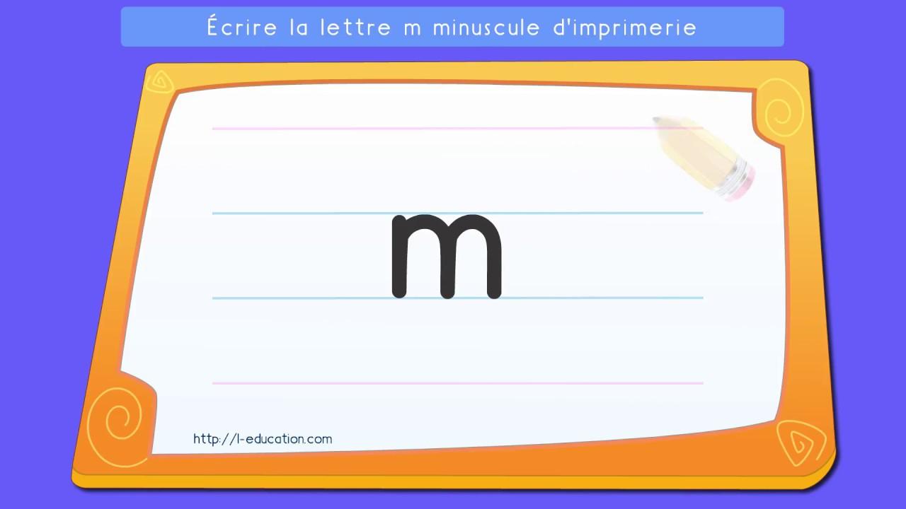 Écrire L'alphabet Script: Apprendre À Écrire La Lettre M Minuscule  D'imprimerie concernant Alphabet En Script