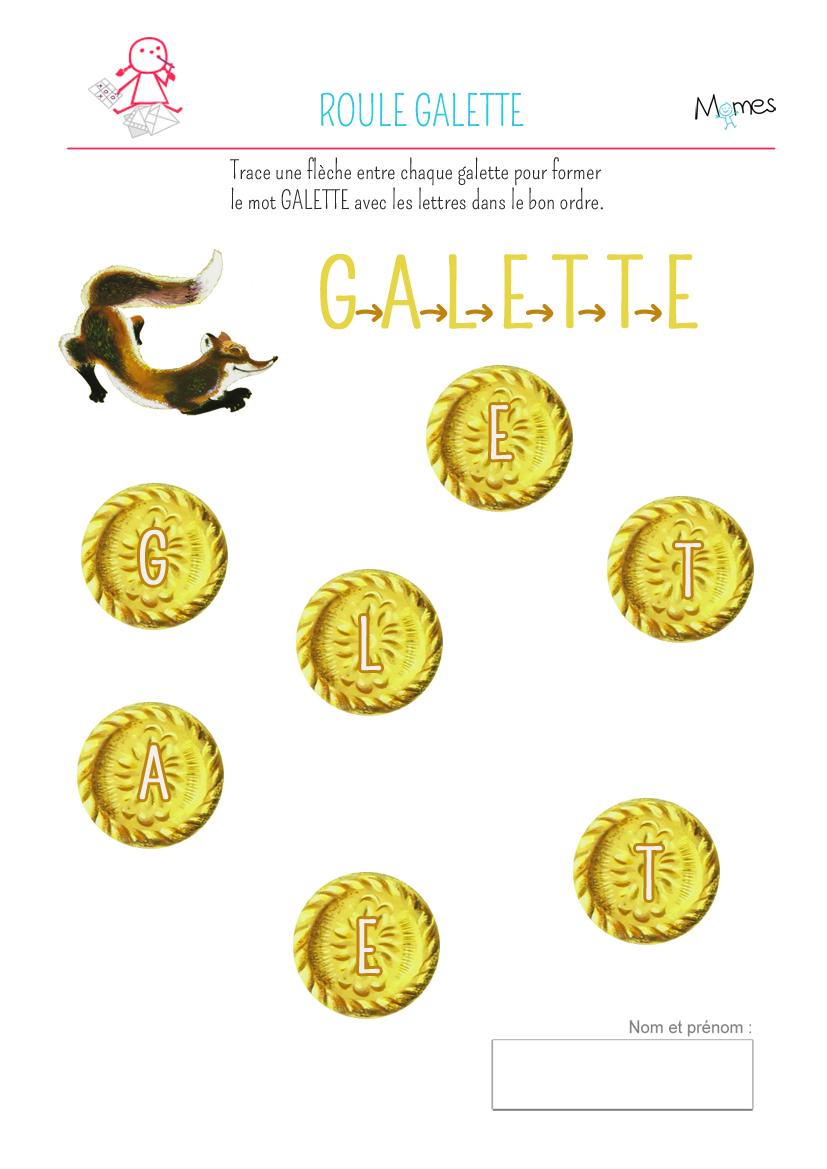 Ecrire Le Mot Galette - Momes avec Jeux Maternelle Grande Section