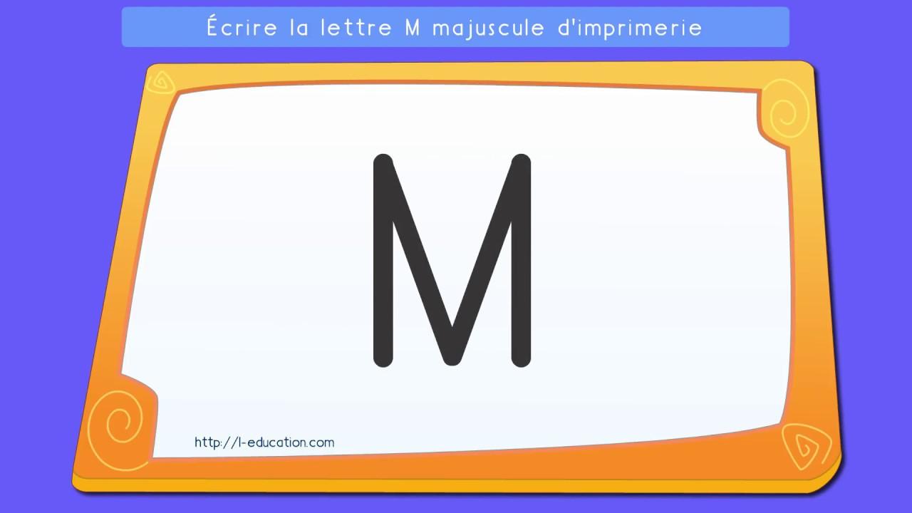 Écrire Les Lettres Capitales: Apprendre À Écrire La Lettre M En Majuscule  D'imprimerie pour Apprendre À Écrire Les Lettres Maternelle