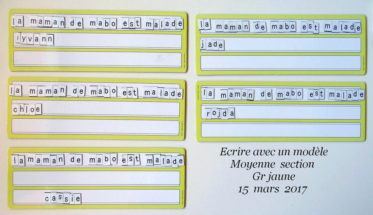 Ecrire Une Phrase En Maternelle Moyenne Section destiné Moyen Section Maternelle Exercice