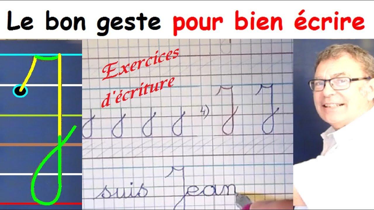 Ecriture Cursive Français Au Cp Ce1 Ce2 : La Lettre Majuscule J encequiconcerne Exercice D Écriture Ce2
