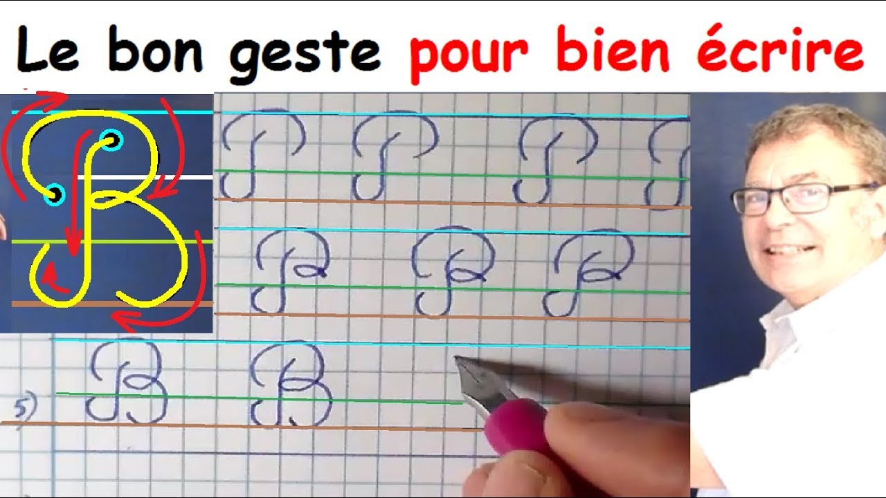 Ecriture Cursive Française Au Cp Ce1 Ce2 : La Lettre Majuscule B dedans Exercice D Écriture Ce2