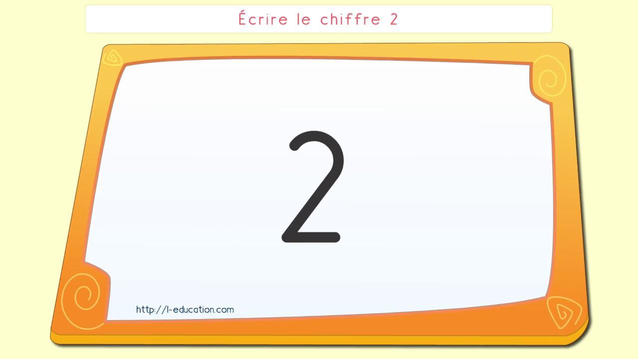 Écriture Des Chiffres - Écrire Le Chiffre 2 concernant Apprendre À Écrire Les Chiffres En Maternelle
