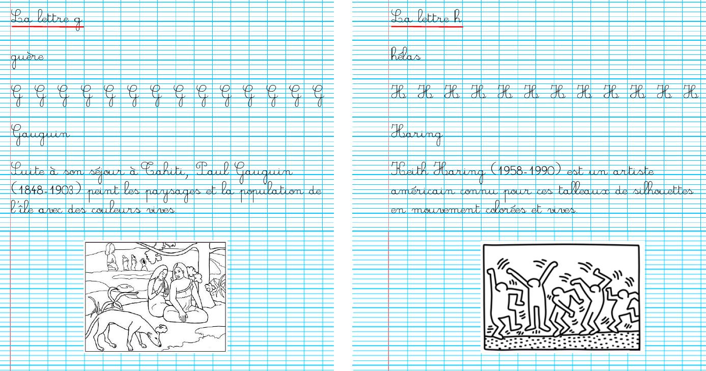 Ecriture En Ce2 - La Classe De Mésange à Cahier D Écriture Cp Gratuit À Imprimer