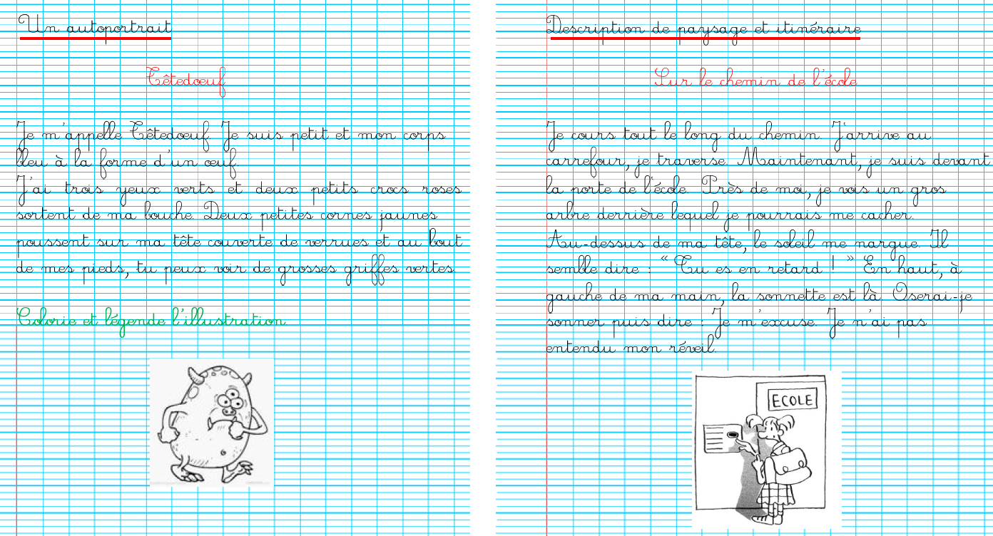 Ecriture En Ce2 - La Classe De Mésange dedans Cahier D Écriture Cp Gratuit À Imprimer