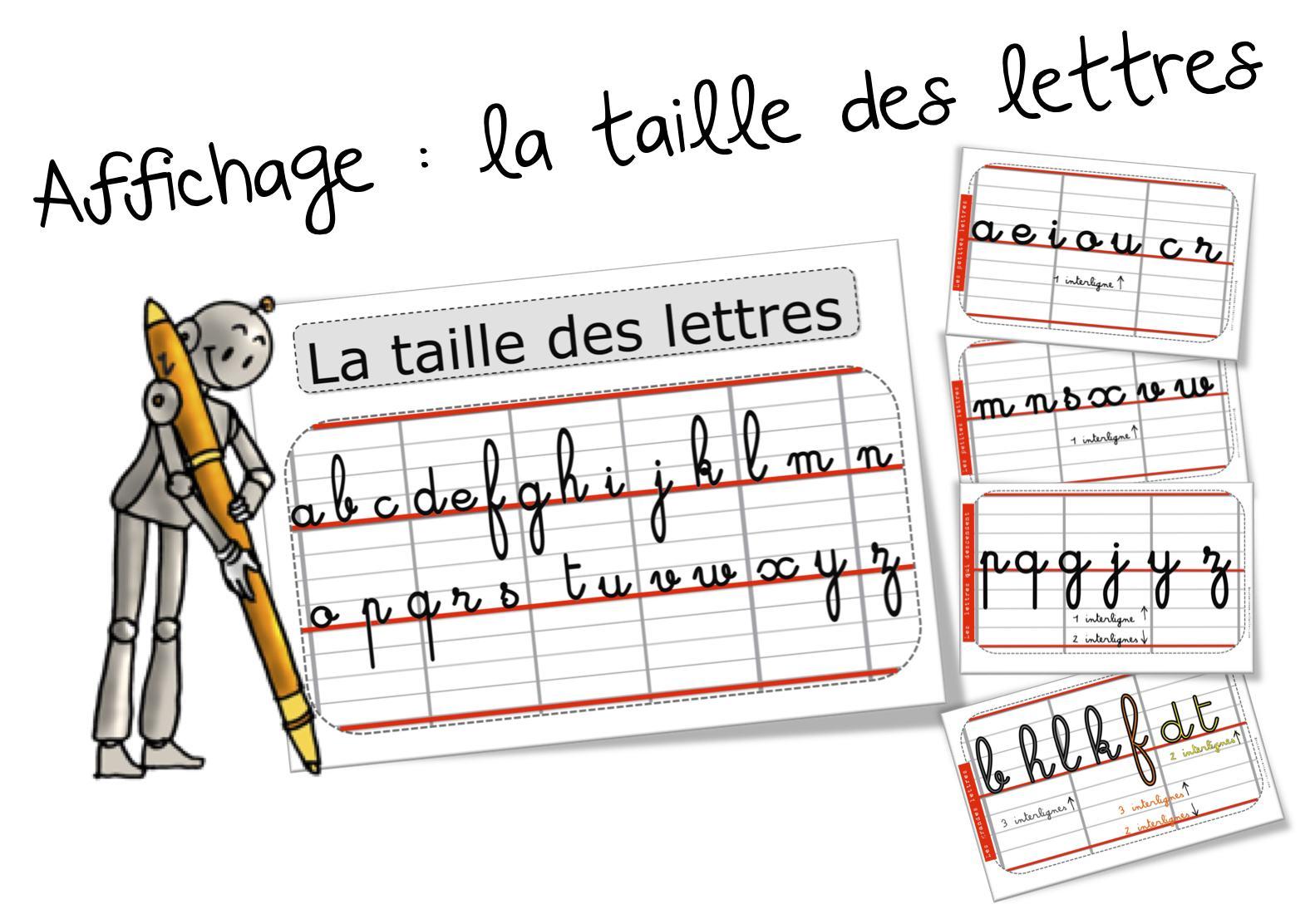 Ecriture : La Taille Des Lettres | Bout De Gomme concernant Alphabet Français Écriture