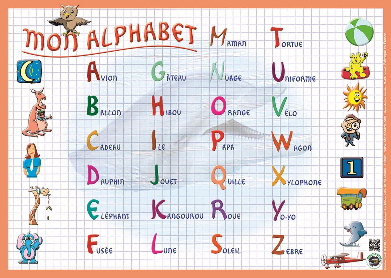 Editions Aris » Alphabet à Alphabet Français Écriture