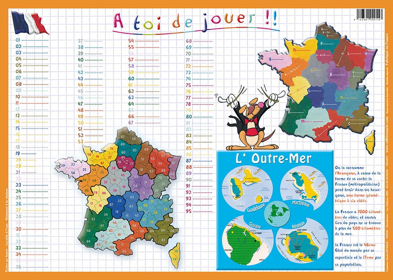 Editions Aris » Départements Et Régions De France avec Départements Et Régions De France