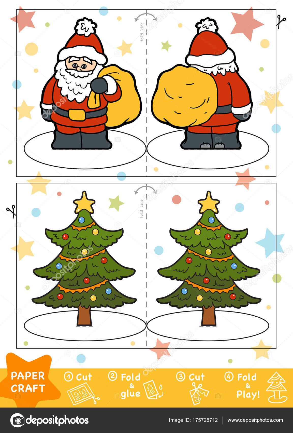 Education Christmas Paper Crafts For Children, Santa Claus destiné Rebus Noel