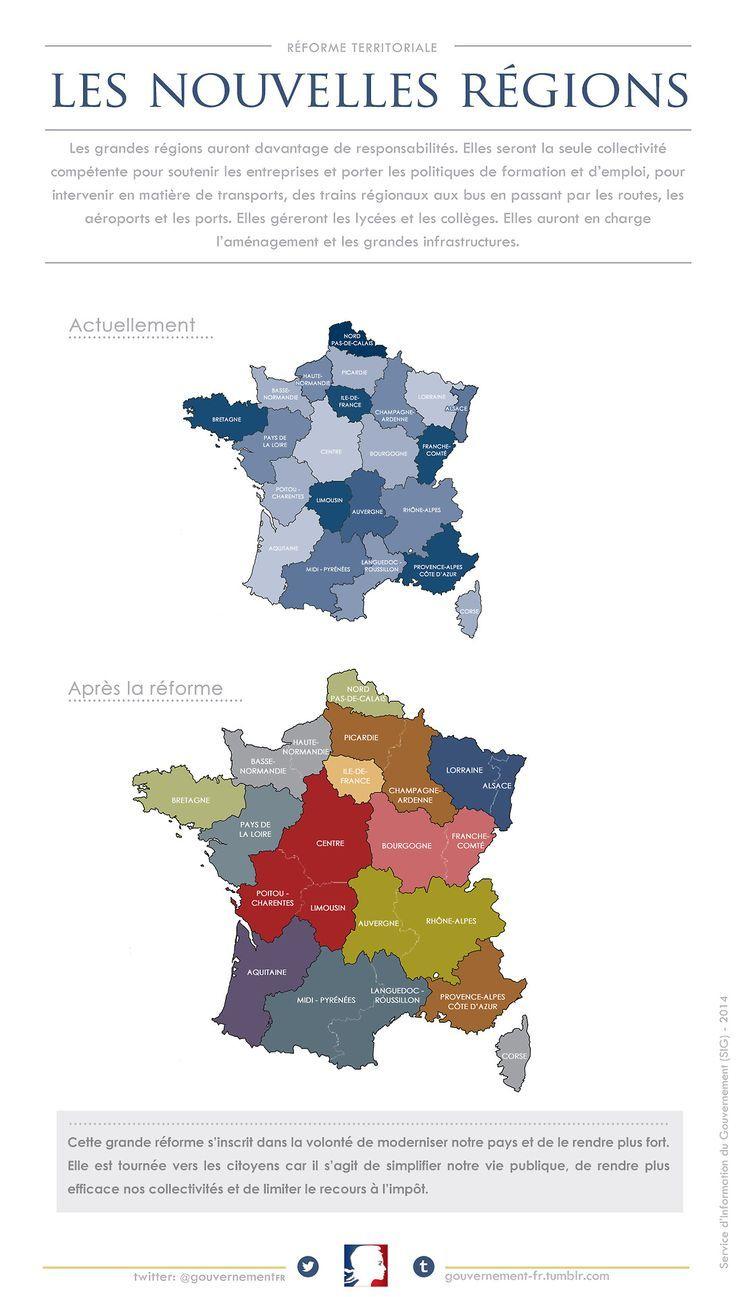Educational Graphic : La Nouvelle Carte Des Régions De intérieur Carte De France Nouvelle Region