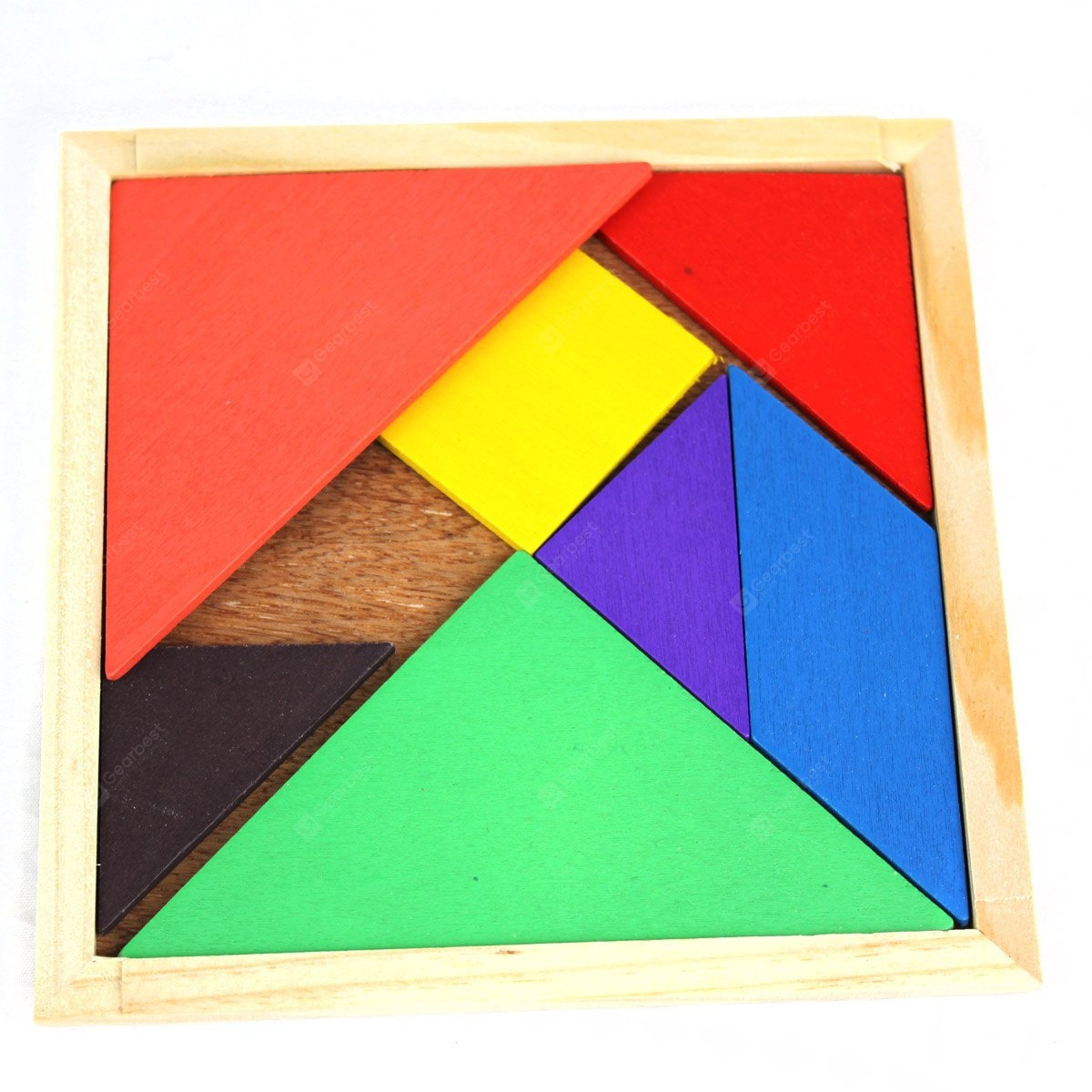 Educational Wooden Tangram Toy Simple Jigsaw Puzzle For Animal Boat Human concernant Tangram Simple