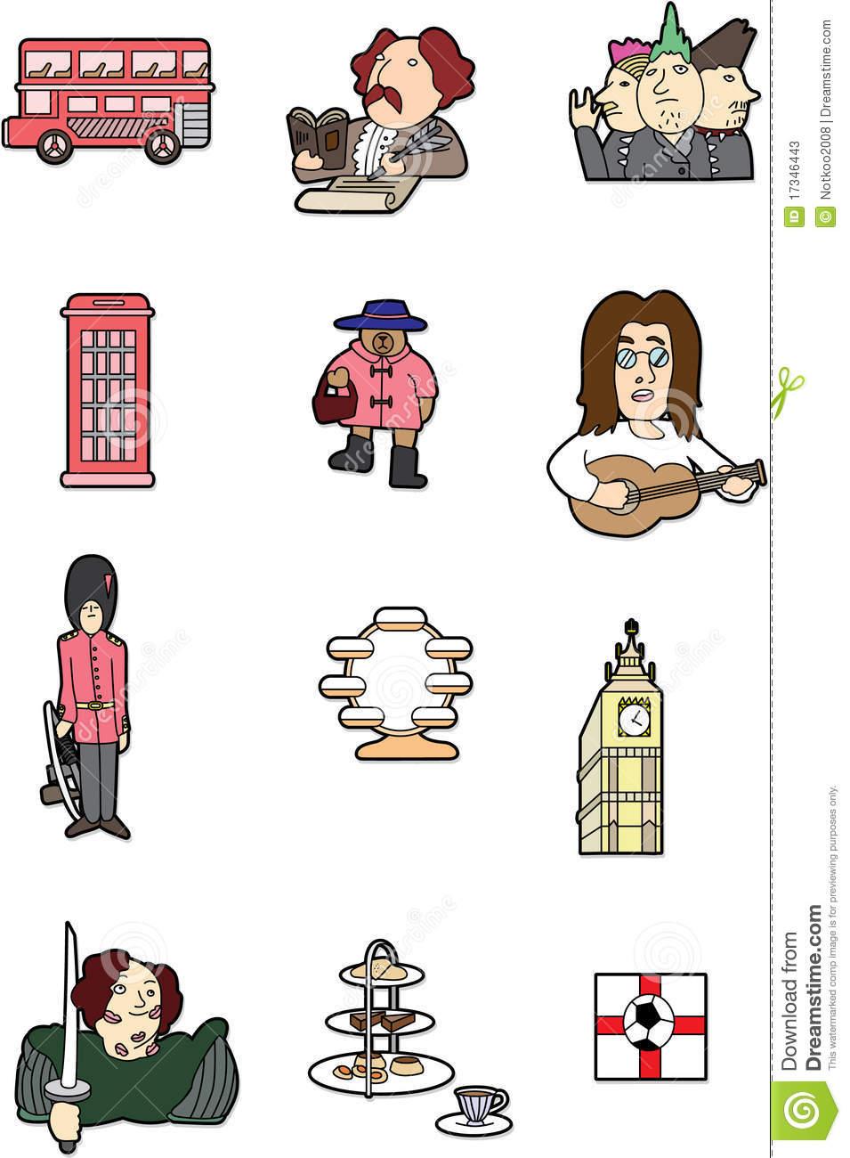 Élément De L'angleterre De Dessin Animé Illustration De destiné Dessin De Angleterre