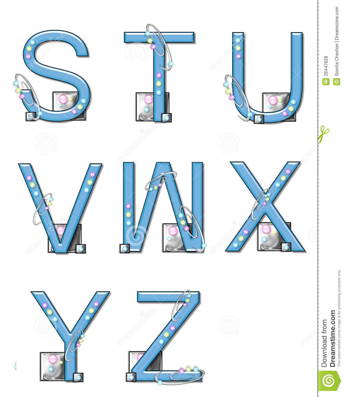 Éléments De Modèle D'alphabet S À Z Illustration Stock tout Modèle D Alphabet