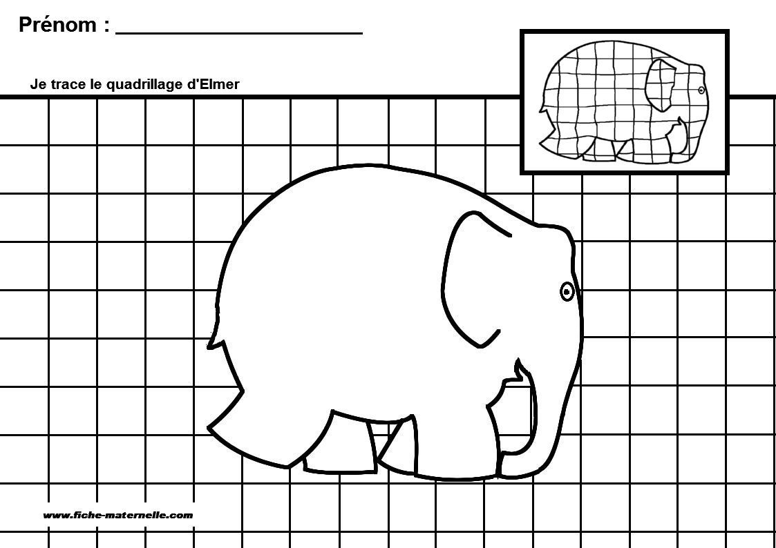 Elmer The Elephant Printable Worksheets | Printable avec Graphisme En Gs