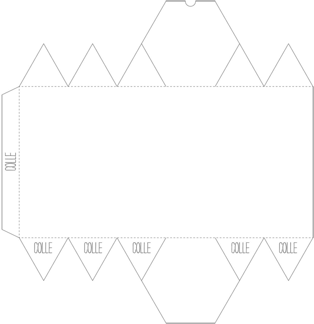 Emballage Cadeau : Une Boîte Hexagonale : Femme Actuelle Le Mag intérieur Patron Pour Boite En Carton