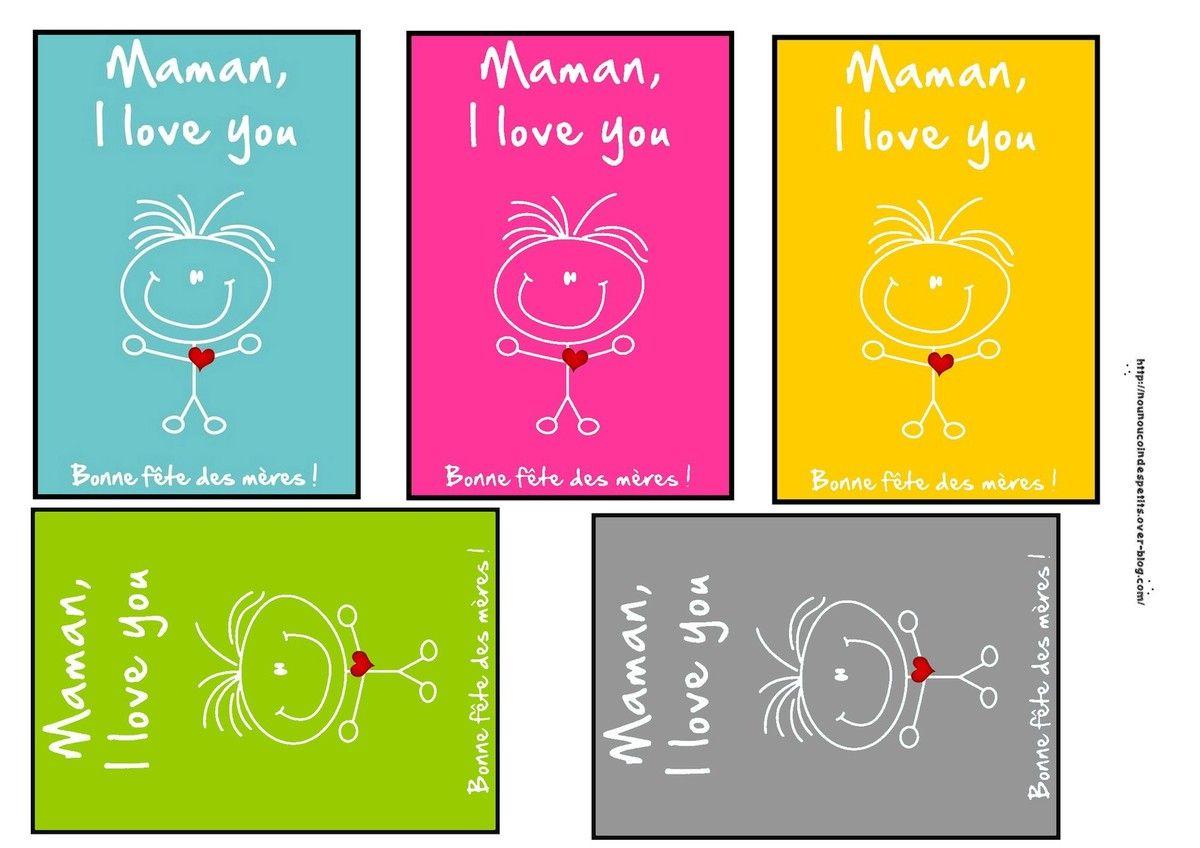 Emballage Cadeaux | Bon Fete Maman, Etiquette A Imprimer Et tout Carte Bonne Fete Maman Imprimer