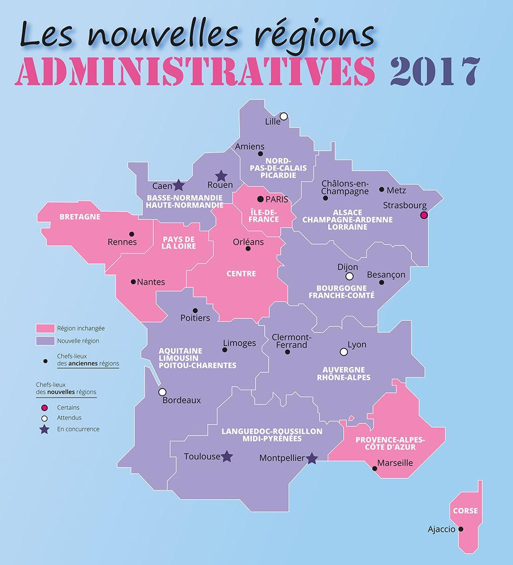En Exclusivité : Les Nouvelles Régions Administratives 2017 pour Nouvelles Régions De France 2017