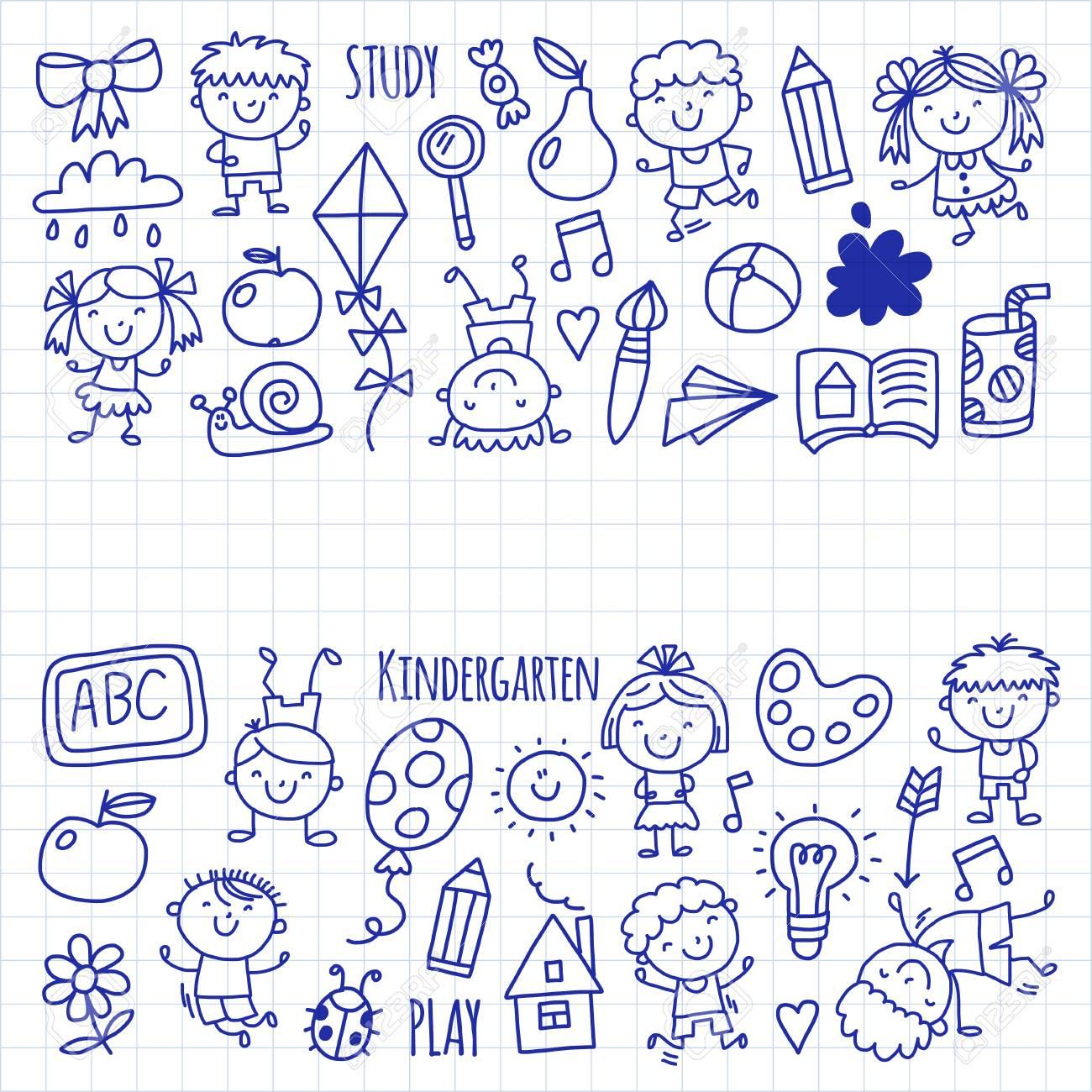 Enfants Dessin École Maternelle Enfants Heureux Jeu Illustration Pour  Enfants Enfants École Maternelle Icon à Jeux Enfant Maternelle