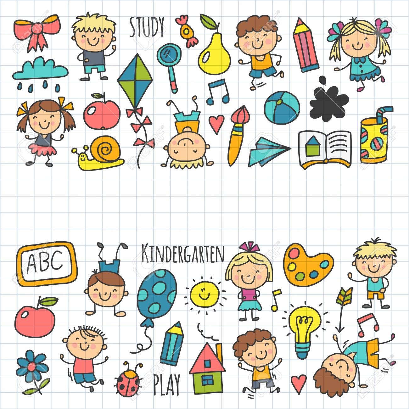 Enfants Dessin École Maternelle Enfants Heureux Jeu Illustration Pour  Enfants Enfants École Maternelle Icon concernant Jeux Enfant Dessin