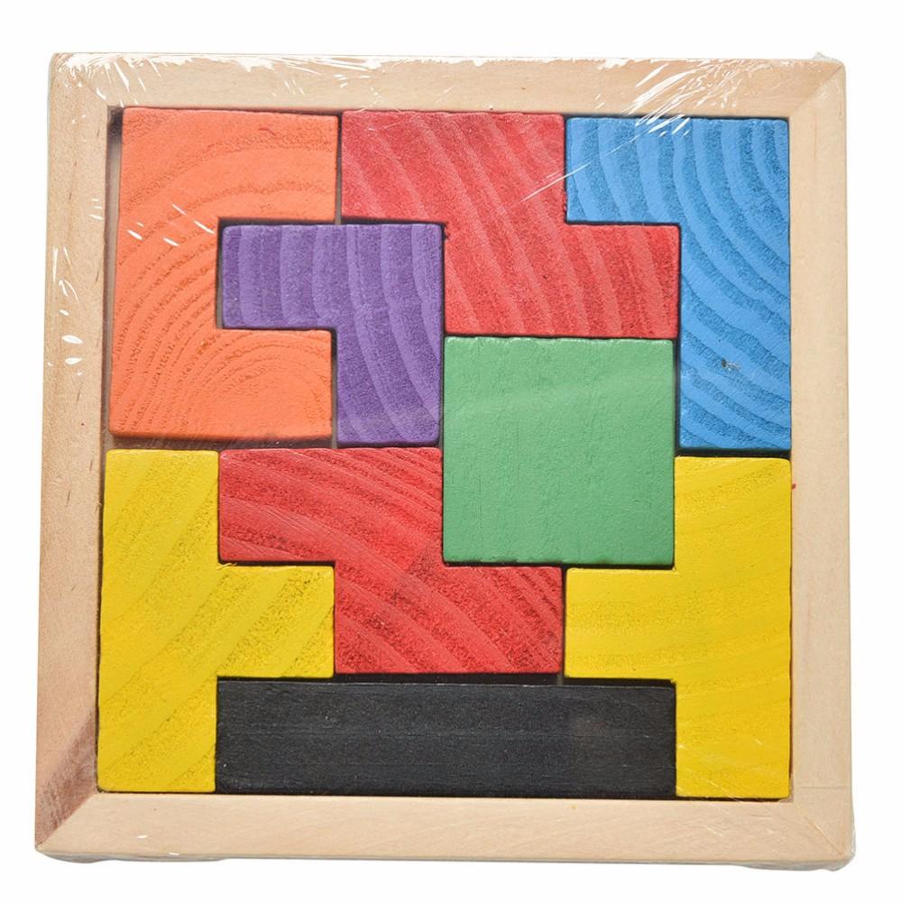 Enfants Jouets En Bois Tangram P Casse-Tête Puzzle Tetris Jeu Éducatif Bébé  Enfant Enfant Jouet Livraison Gratuite - Buy Jouets De Puzzle,jouets De à Jeux De Tangram Gratuit