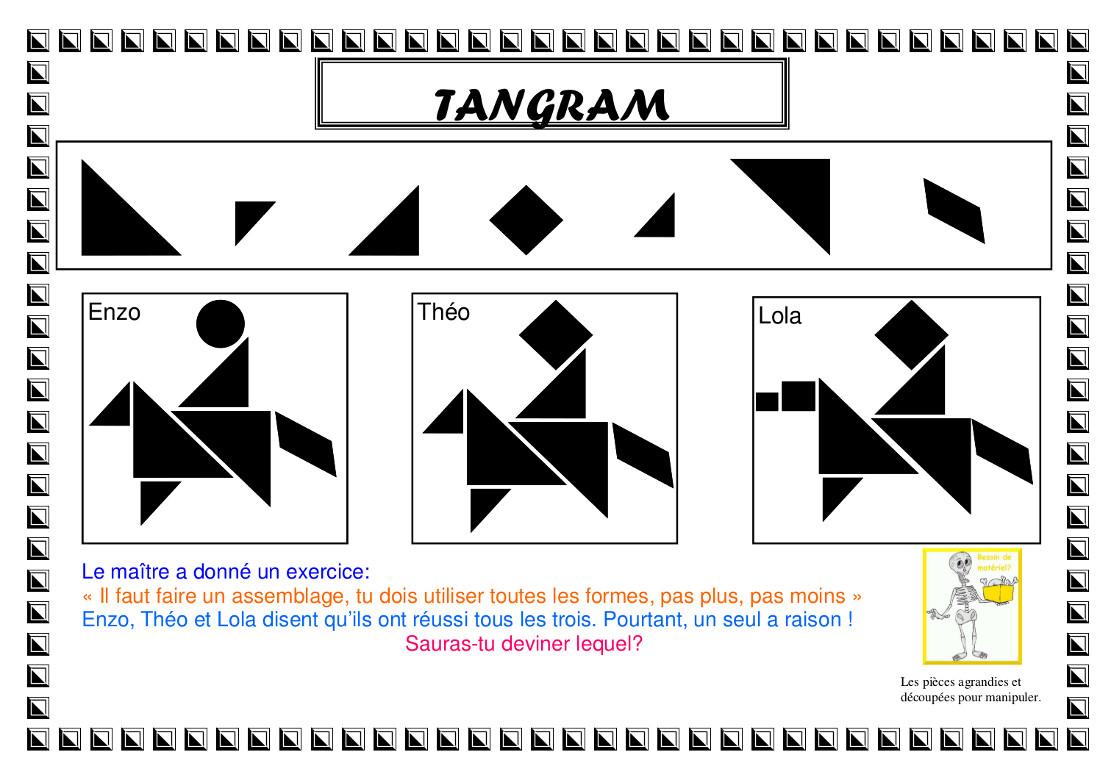 Enigmath.tic serapportantà Modèle Tangram À Imprimer
