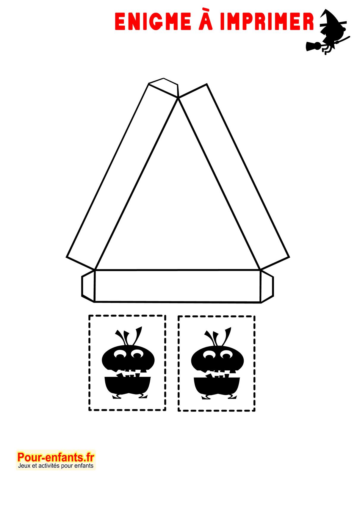 Enigmes Idées Activités Jeux À Imprimer Halloween Bricolage concernant Tangram À Découper