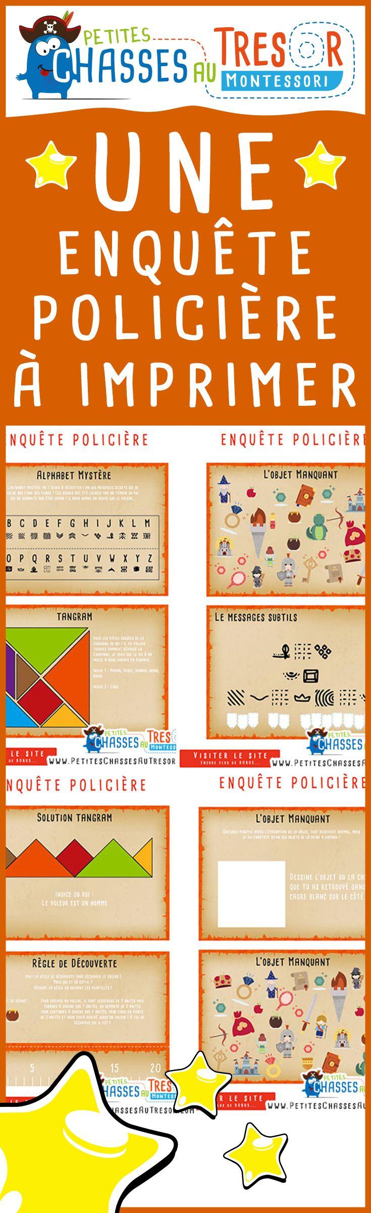 Enquête Policière Pour Enfant À Imprimer ! Une Mini Enquête intérieur Jeux À Imprimer 8 Ans