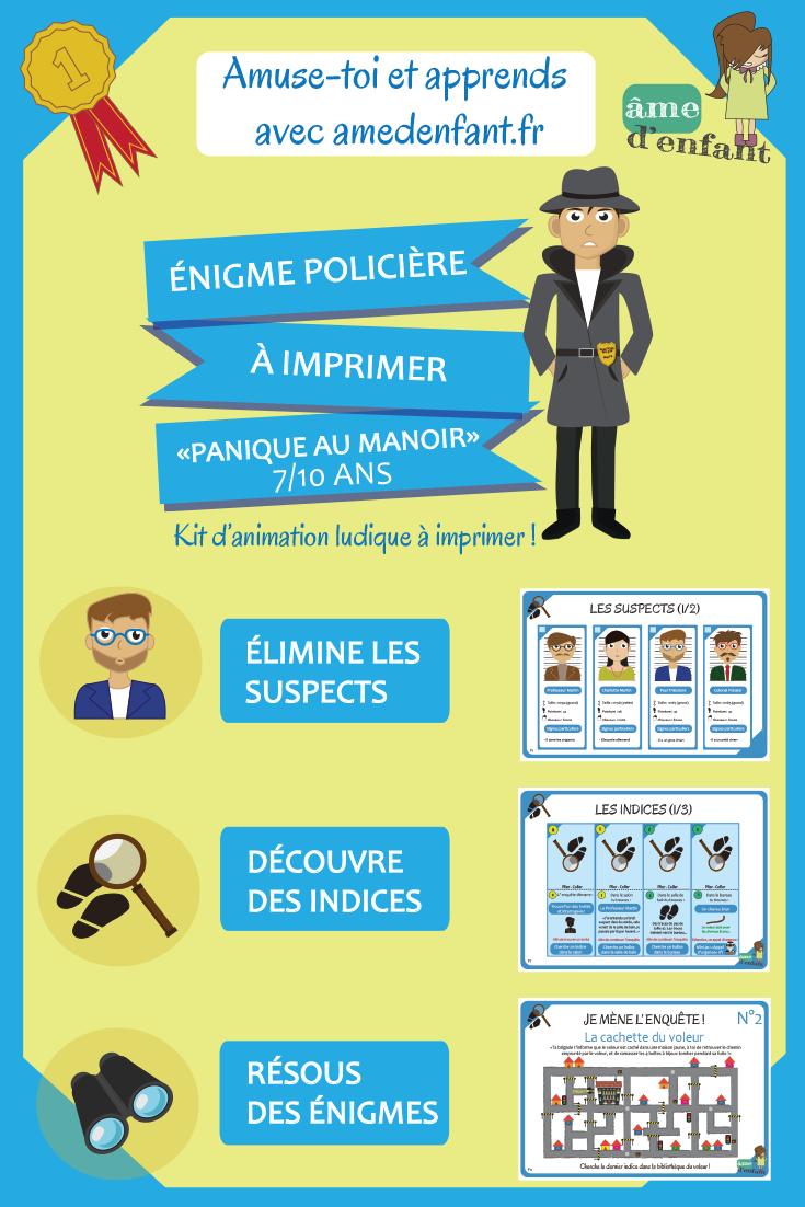 Enquête Policière Pour Grand Détective (7/10 Ans) | Enquête serapportantà Jeux A Imprimer Pour 10 Ans