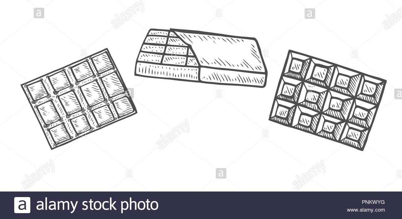 Ensemble De La Main À La Main.chocolat Tablette De Chocolat serapportantà Tablette Chocolat Dessin