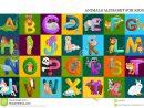 Ensemble De L'alphabet D'animaux Pour Des Lettres D'enfants dedans Apprendre L Alphabet En Francais Maternelle
