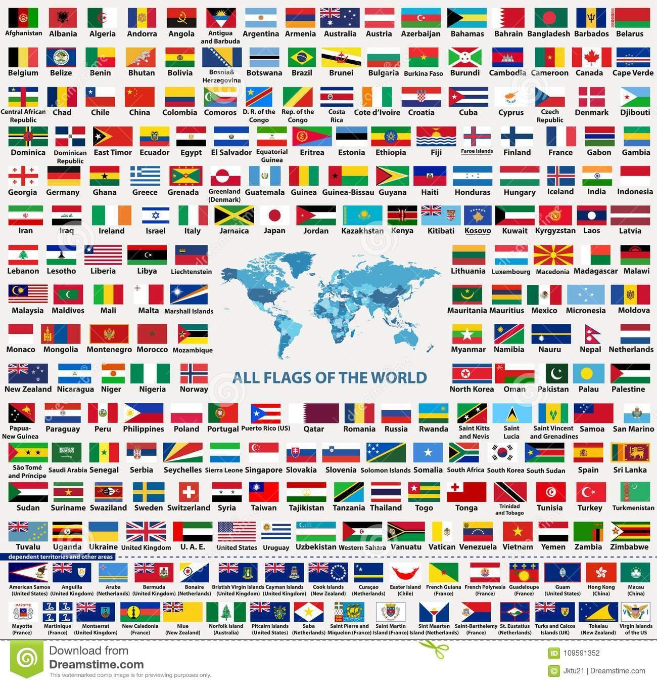 Ensemble De Vecteur De Tous Les États Souverains De Drapeaux concernant Drapeaux Européens À Imprimer