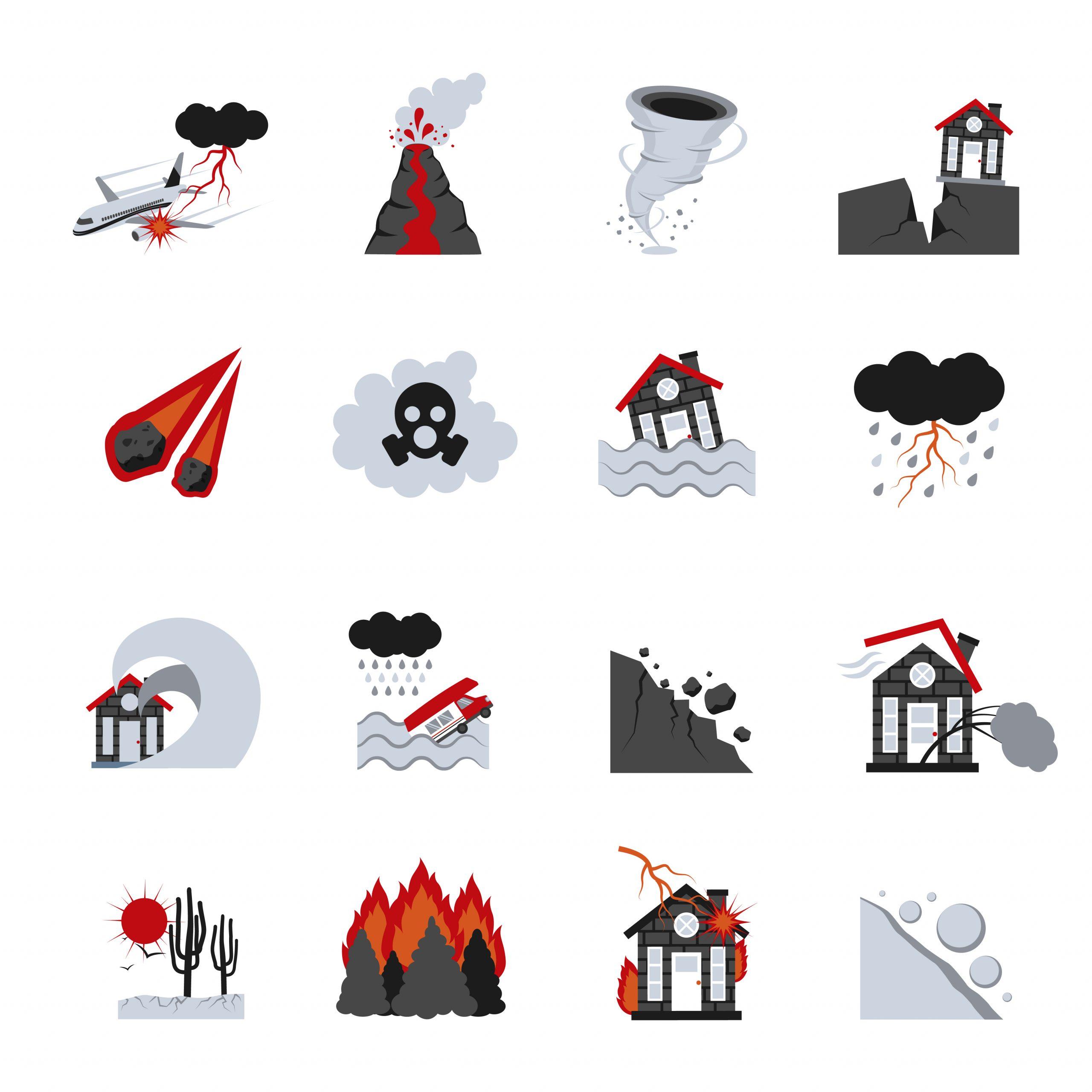 Ensemble D'icônes De Catastrophes Naturelles avec Jeux De Catastrophe Naturel Gratuit
