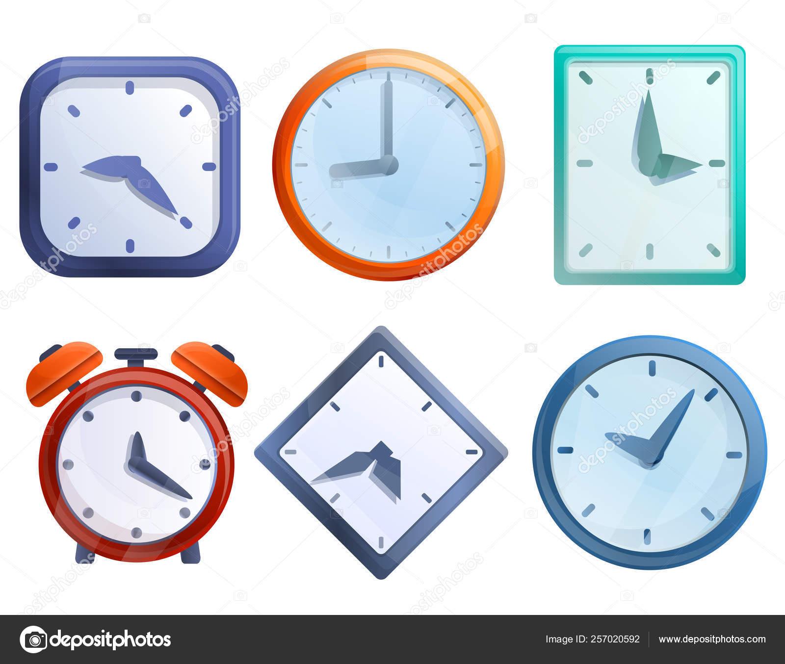 Ensemble D'icônes D'horloge De Dessin Animé, Illustration encequiconcerne Dessin D Horloge