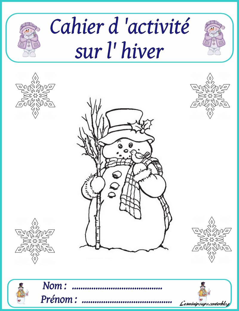Entête Du Cahier Sur L'hiver À Imprimer serapportantà Cahier D Activité A Imprimer