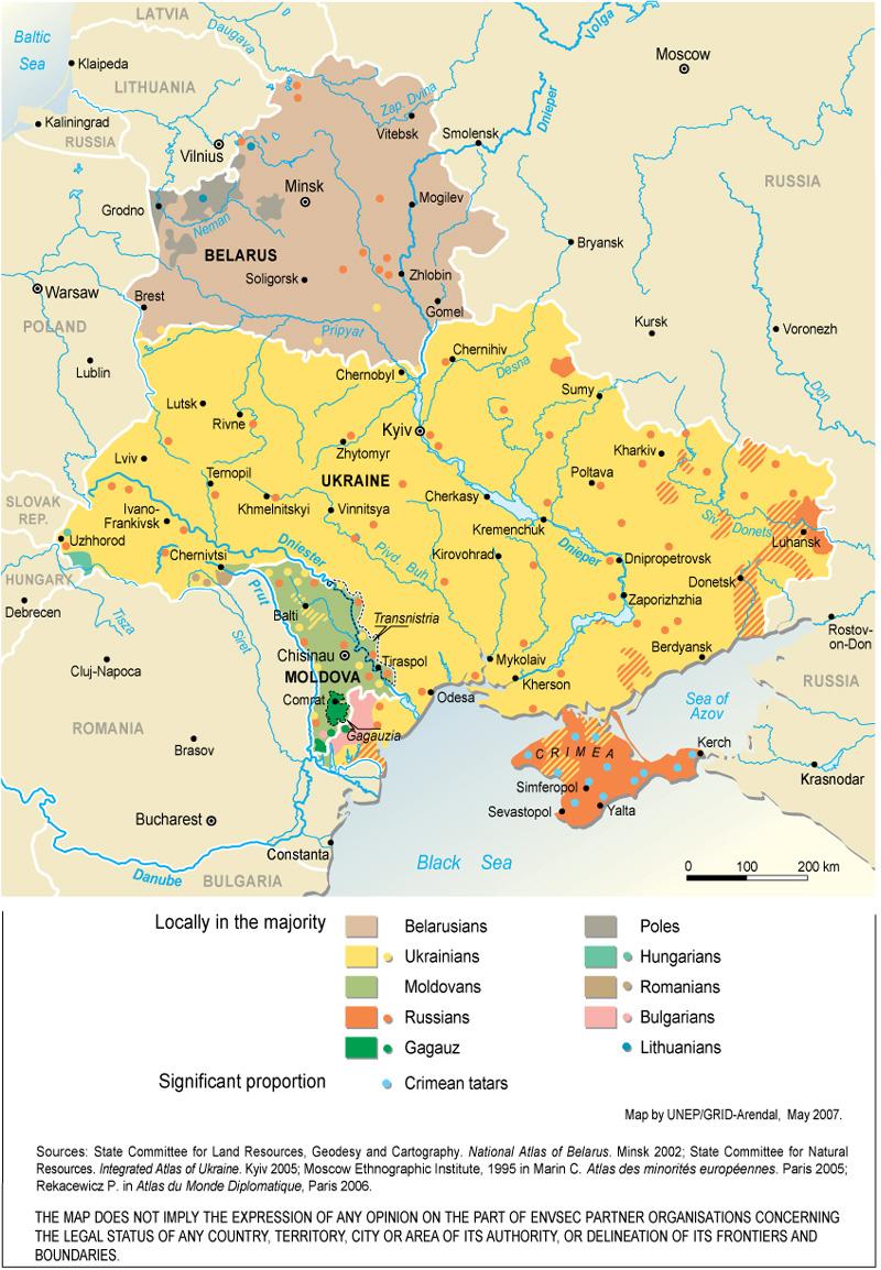 Envsec Publications intérieur Carte Europe De L Est