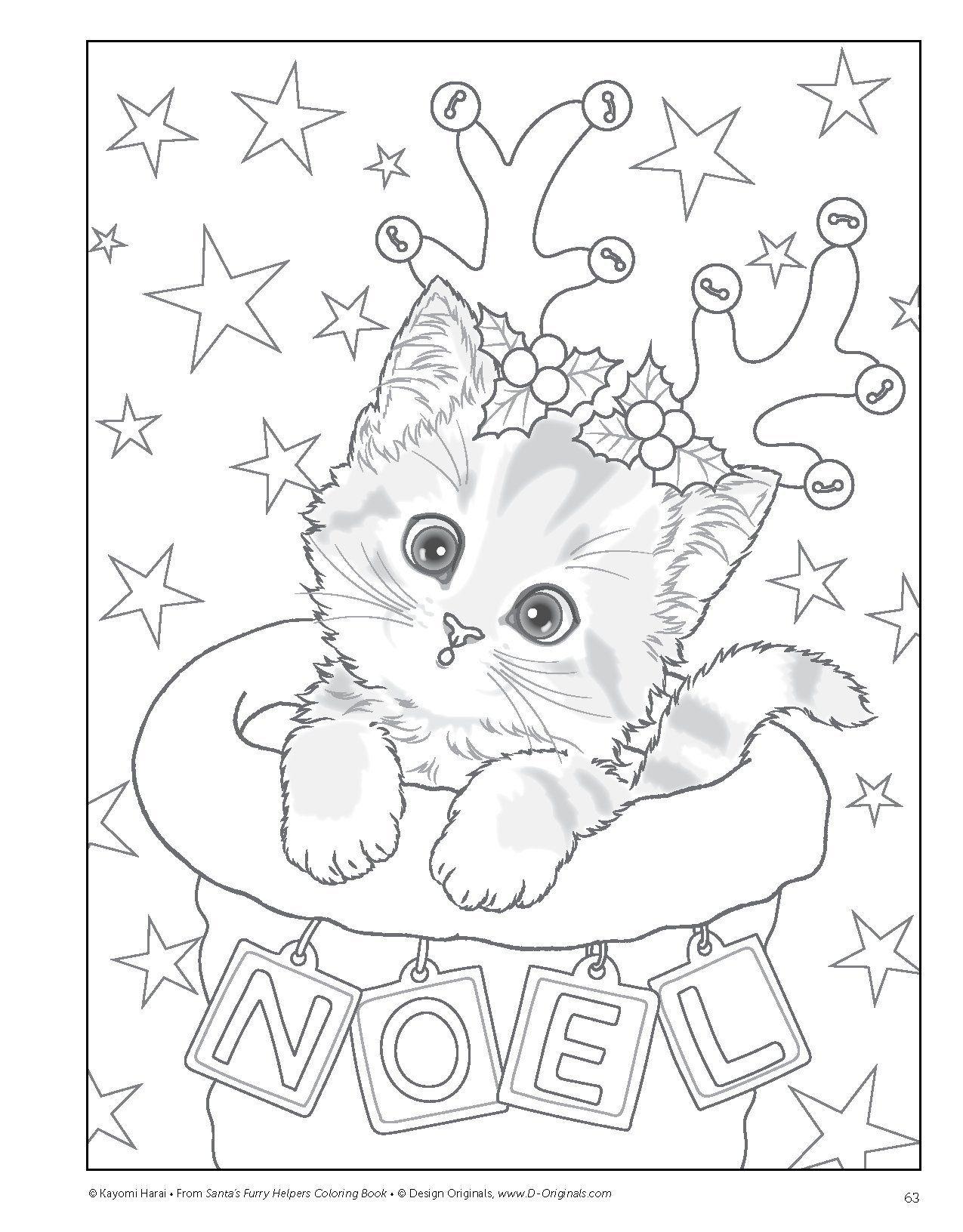 Épinglé Par Céline Deutsch Sur Coloriages | Coloriage Noel avec Coloriage De Chat De Noel