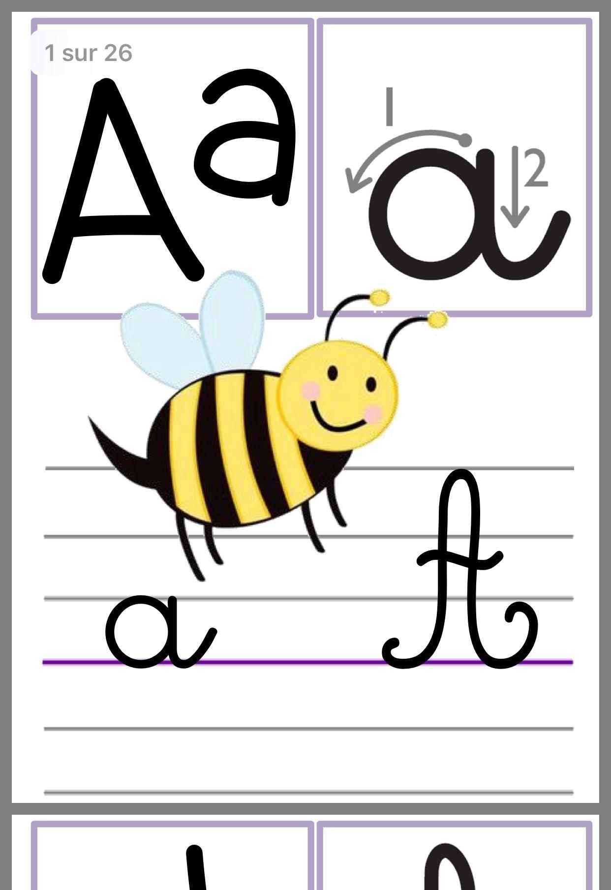 Épinglé Par نورة الفراح Sur Photocopie | Affichage Alphabet intérieur Alphabet Français À Imprimer