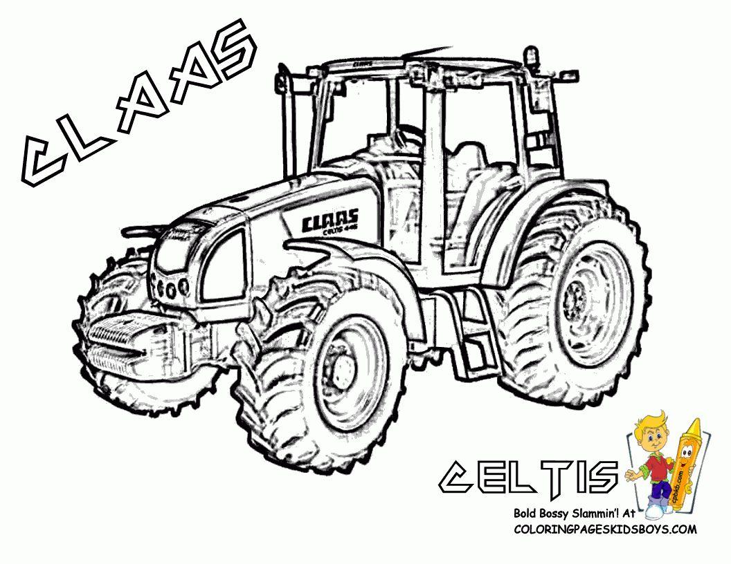 Épinglé Par Daniel Et Marie-Claire Nicod Sur Dessin dedans Dessin De Tracteur À Colorier