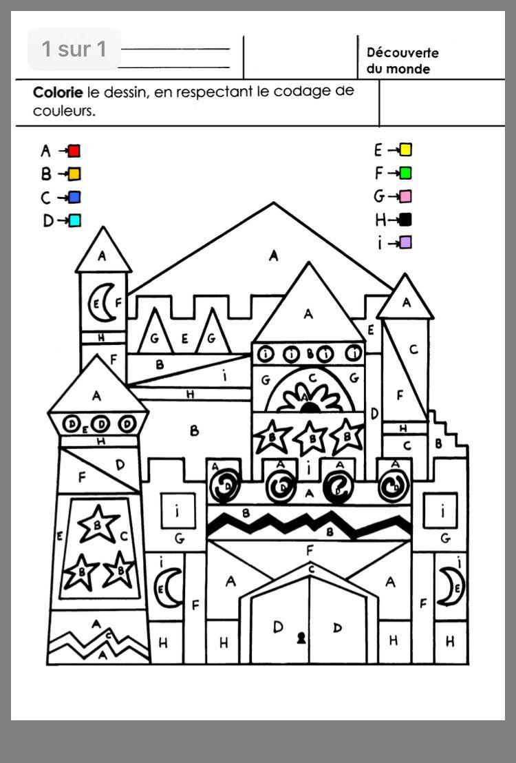 Épinglé Par Dorota Furmaniak Sur Zamek | Coloriage Magique intérieur Coloriages Codés Gs