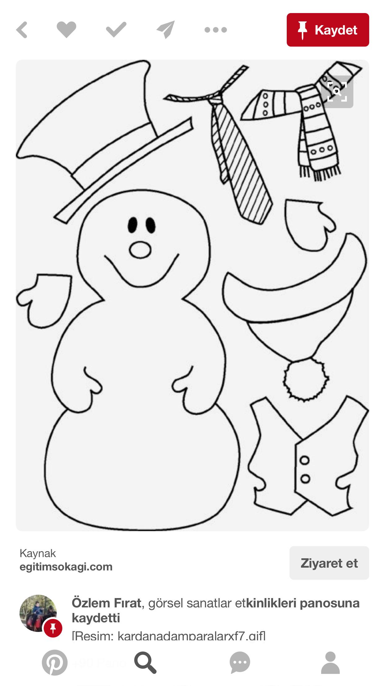Épinglé Par Gisele Sur Deco Noel | Coloriage Bonhomme De destiné Bonhomme De Neige À Découper