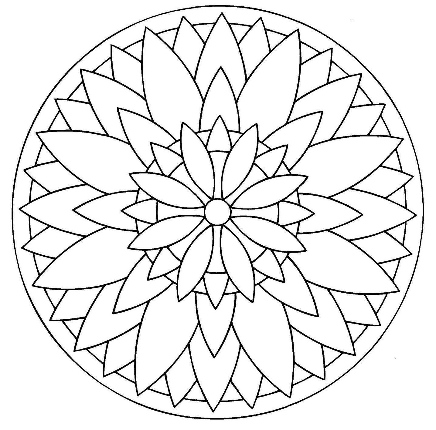 Épinglé Par Lucie Buisson Sur Mandalas   Mandala À Colorier pour Rosace A Imprimer