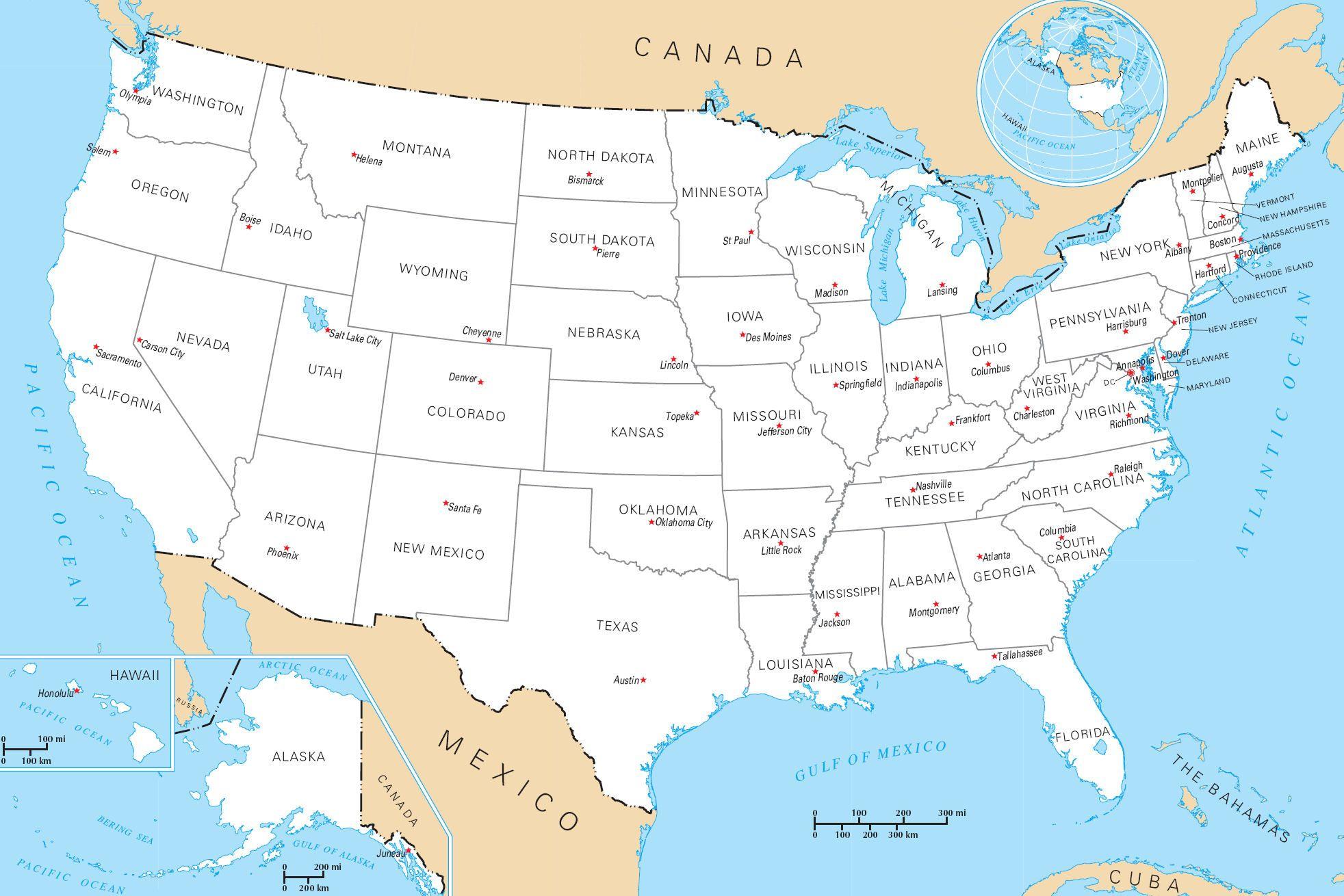 Épinglé Par Myriam Simard Sur Art | Carte Etats Unis dedans Carte Des Etats Unis À Imprimer