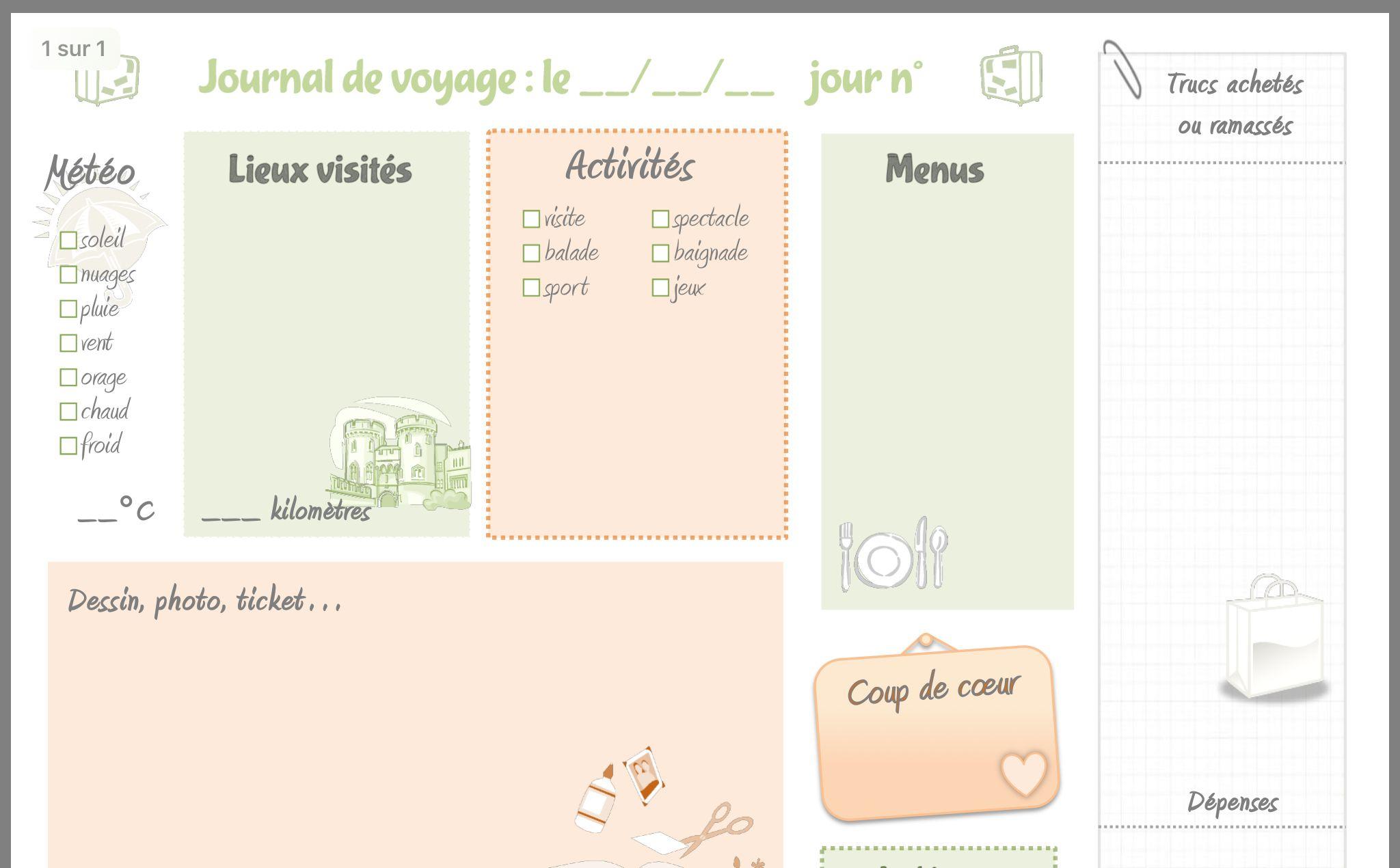 Épinglé Par Nathalie Fournel Sur Tableau Créé | Carnet De destiné Carnet De Vacances À Imprimer